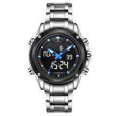 Men Watches Luxury Brand Naviforce Men's Quartz Hour LED Sports Watch Men Army Military Wrist Watch blue one size