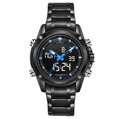 Men Watches Luxury Brand Naviforce Men's Quartz Hour LED Sports Watch Men Army Military Wrist Watch black one size