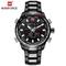 NAVIFORCE Watch Men Luxury Digital Analog Sport Wristwatch Military Stainless Steel Male Clock black one size