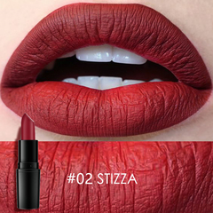 Matte Waterproof Velvet Lip Stick Sexy Red Brown Pigments Makeup Matte Beauty Lipsticks #02