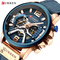 CURREN Casual Sport Watches Men Blue Luxury Military Leather Man Clock Chronograph Wristwatches 1 one size