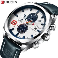 Men Watches Luxury CURREN Military Analog Quartz Watch Men's Sport Wristwatch Waterproof 30M 1 one size