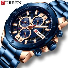 CURREN Watches Men Quartz Wristwatch Military Chronograph Clock Male Fashion Sporty Watch Waterproof 1 one size