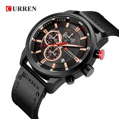 New Watches Men Luxury Brand CURREN Chronograph Men Sport Watches Leather Strap Quartz Wristwatch 1 one size
