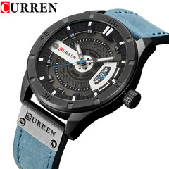 Fashion Mens Watches Curren Brand Luxury Leather Quartz Men Watch Casual Sport Clock Male 1 one size
