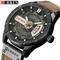 Fashion Mens Watches Curren Brand Luxury Leather Quartz Men Watch Casual Sport Clock Male 2 one size