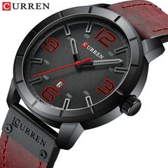 CURREN Men's Quartz Wristwatches Male Clock Luxury Hombres Leather WristWatches with Calendar 1 one size