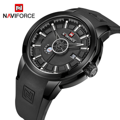 NAVIFORCE Arrival Men Quartz Watch Silicone Fashion Watches Waterproof Shockproof Sport Wristwatch 1 one size