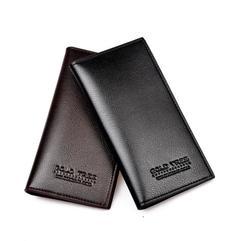 Men Wallets Long Men Purse Wallet Male Clutch Leather Zipper Wallet Men Business Male Wallet Coin black long