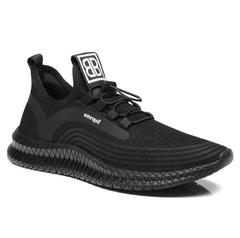 New Mesh Men Casual Shoes Lac-up Gym Shoes Lightweight Comfortable Breathable Walking Sneakers black 39