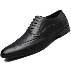 Dress Shoes Business Office Lace-Up Loafers Casual Driving Shoes Men's Flat Party Leather Shoes black 38 leathers