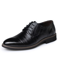 Big Size Oxfords Leather Men Shoes Fashion Casual Pointed Formal Business Male Wedding Dress Flats black 38 leathers