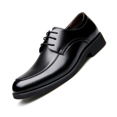 Men's Business Formal Dress Shoes Comfortable Cow Leather Shoes Classic Retro British Style Oxfords black 38 leathers