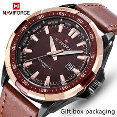 NAVIFORCE Original Brand Fashion Men's Watch Quartz Watch Men Waterproof Wrist watch Military Clock black one size