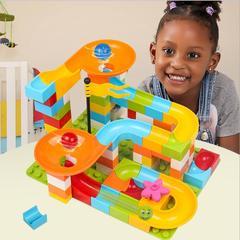 Marble Race Run Maze Balls Track Building Blocks Jungle Adventure Track Brick Toys For Kid 1 32*8*25cm
