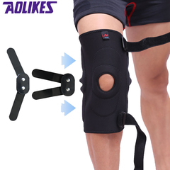 2PCS Adjustable Hinged Knee Brace Patella Compression Knee Supports Kneepad Relief for basketball 1pair(Left legs and right legs) l