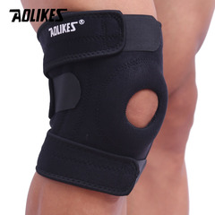 1pair Elastic Knee Support Brace Patella Knee Pads Hole Sports Kneepad Safety Guard Strap Running black 1pair(Left legs and right legs)