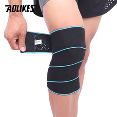 AOLIKES Sports Wrapped Compression Protective Knee Bandages Elastic Fitness Prevent Knee blue f