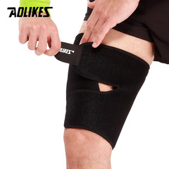 Sport Thigh Support Guard Muscle Strain Protector Brace fitness Leggings Leg Compression black f