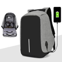 Anti-theft Men Laptop Rucksack Travel Backpack Large Capacity  Business Charge School Shoulder Bag gray 16 inch