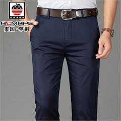 Official Classic Casual Pants Fashion Elasticity Business Black Trousers Male Clothes Work Wedding black 180/94a (37)