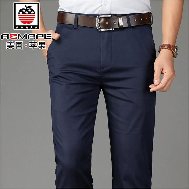 Official Classic Casual Pants Fashion Elasticity Business Black Trousers Male Clothes Work Wedding black 170/74a (30)