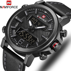NAVIFORCE Luxury Military Quartz Mens Watches LED Date Analog Digital Watch Men Fashion Sport Clock 1 one size