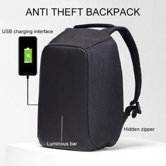Anti-theft Men Laptop Rucksack Travel Backpack Large Capacity  Business Charge School Shoulder Bag black 16 inch
