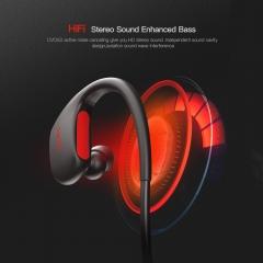 Sports Bluetooth Headset Wireless Bluetooth Headphone Running IPX7 Waterproof Headse Red
