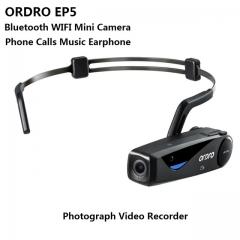 ORDRO EP5 WIFI Bluetooth Bone Conduction Phone Calls Music Earphone Photographed As Shown