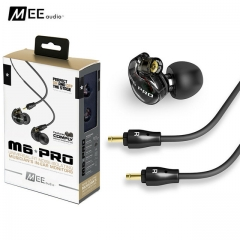 In-Ear Monitors Earphones with Detachable Cables black