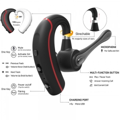 Business Bluetooth Earphone stereo HandsFree Noise reduction Bluetooth Headset Wireless Headphones as shown