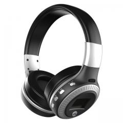 B19 HiFi Bass Stereo Bluetooth Headphone Wireless Headset silver