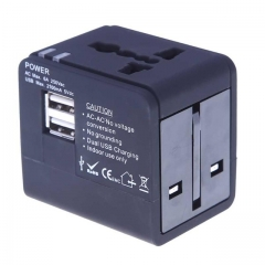 Universal Travel Adapter Power Adapter Electric Plugs Sockets Adapter USB Travel Socket Plug as shown one size