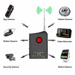 Full Range Wireless Anti-Spy Bug Detect RF Signal Detector Camera GSM Device FinderAudio Bug Finder as shown one size