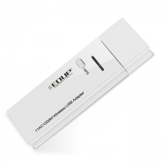 EDUP 5ghz USB wireless wi-fi adapter 1200mbps High speed wifi receiver dual band As shown as shown one size