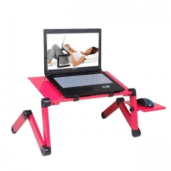 Adjustable Portable Laptop Table Stand Lap Sofa Bed Tray Computer Notebook Desk bed table Red one size