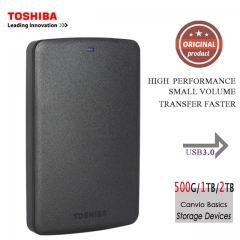Toshiba Portable External Hard Disk Drive Mobile HDD Canvio Basics USB Desktop Laptop Computer 500GB one size