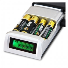 C905W 4 independent charging Slots Intelligent chip LCD Charger  NiCd NiMh Batteries as shown