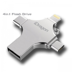 4in1usb flash drive USB otg type-c flash memory stick micro USB for iphone ipad smartphone pendrive 32gb one size