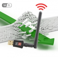 Autley AC600Mbps USB Wifi Adapter, Dual Band 802.11ac USB Wireless Network Adapter
