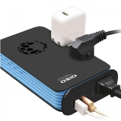 Power Inverter DC Car Inverter Outlets with USB Port Charger Travel Portable Converter as shown one size