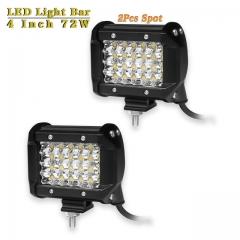 4 inch 72W Spot LED Work Light Bar Offroad LED Beams Car Truck Trailer Pickup Driving LED Lamp