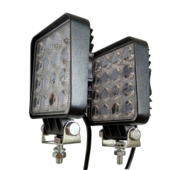 2pcs 48W 4.2 inch LED Work Light Flood Driving Lamp for Car Truck Trailer SUV Off Road Boat
