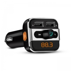 Bluetooth Car Kit Music Player FM Transmitter Modulator with 3.4A Dual USB Charger Support Folder