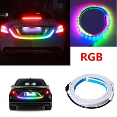 Car LED Strip Lighting Rear Trunk Tail Light Dynamic Streamer Brake Turn Signal Reverse Leds