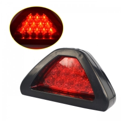 Universal Car 12 LED Rear Laser Tail Brake DRL Stop Light Auto Fog Lamp F1 Style Triangle as shown one size