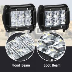 2pcs 5D 4 inch LED Light for Offroad Boat Car Truck 12V 24V ATV SUV 4WD 4x4 Work Lamp