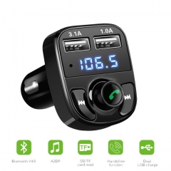 1Pcs Bluetooth Car Kit FM Transmitter MP3 Player With LED Dual USB 4.1A Quick Charger