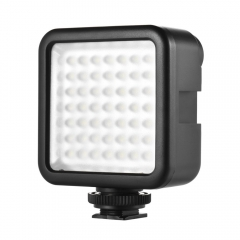 Mini Interlock Camera LED Panel Light Camcorder Video Lighting With Shoe Mount Adapter as shown one size